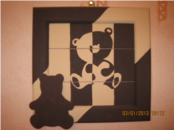 Cadre decoration deco bebe creation mural dessin peinture for Dessin mural peinture
